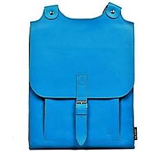 Batohy - Kožený batoh světlemodrý - 10719479_