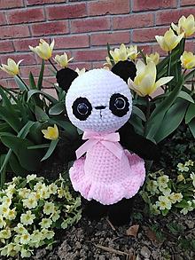 Hračky - Háčkovaná panda - 10718304_