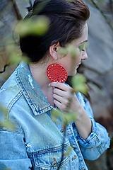 Náušnice - Náušnice oranžovo- červené - 10719644_