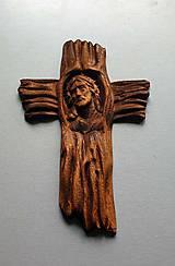 Grafika - Drevorezba Ježiš na kríži - 10719138_