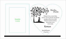 Darčeky pre svadobčanov - Poďakovanie rodičom 4 (hladký okraj) s Foto rámčekom - 10720199_