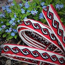 Opasky - Karetka Severská, červená - 10719146_