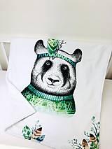 Textil - Dečka pre bábätko PANDA - 10719180_
