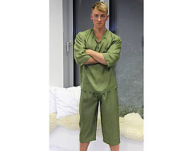 Pyžamy a župany - East - krátke nohavice, hodváb - 10718152_