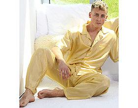 Pyžamy a župany - Lotus - dlhé nohavice, hodváb - 10718171_