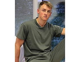 Pyžamy a župany - Olive - tričko - 10718180_