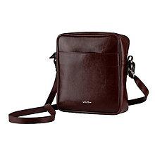 Tašky - Kožená pánska taška ZMEJSS - čierna - A5 (Bordová) - 10719680_