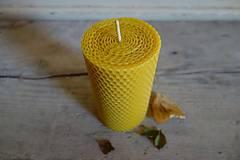 Svietidlá a sviečky - sviečka z včelieho vosku- krútená- extra hrubá- stredná - 10718969_