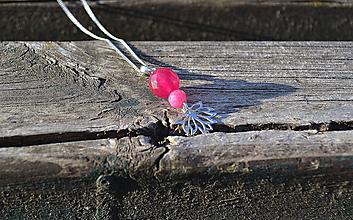 Náhrdelníky - Lotosový kvet na retiazke rhodiované Ag - 10718519_