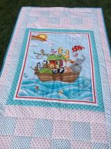 """Textil - """"ZOO na mori"""" patchworkový prehoz - 10718912_"""