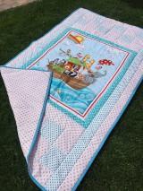 """Textil - """"ZOO na mori"""" patchworkový prehoz - 10718913_"""