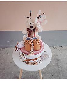 Detské doplnky - PÚDROVÁ plienková torta - 10718946_