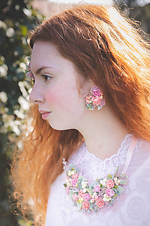 """Náušnice - Kvetinové náušnice """"dotyky nesmelé"""" - 10719918_"""
