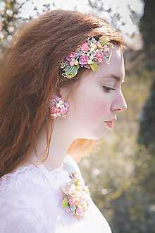 """Ozdoby do vlasov - Kvetinový hrebienok """"dotyky nesmelé"""" - 10719940_"""