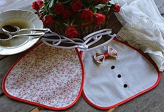 Iné doplnky - Svadobné podbradníky - kvet jablone - 10719600_