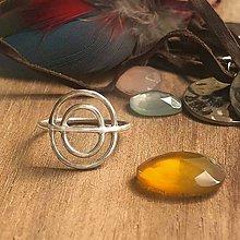 Prstene - Geometrický prstýnek - 10719437_