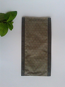 Úžitkový textil - Voskované desiatové vrecúško - tmavo sivé (Ornament) - 10720181_