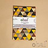 Úžitkový textil - Voskovaný obrúsok - Trojuholníky žlté (35x35cm) - 10719208_
