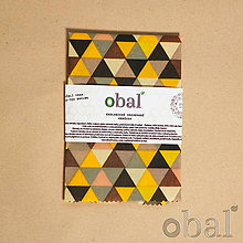 Úžitkový textil - Voskovaný obrúsok - Trojuholníky žlté - 10719208_