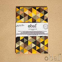 Úžitkový textil - Voskované vrecko - Trojuholníky žlté - 10719223_