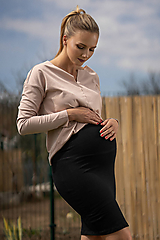 Tehotenské oblečenie - Tehotenská sukňa Nad Kolená - 10719072_