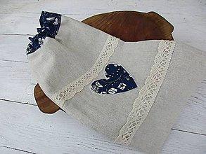 Úžitkový textil - vrecko Folk s modrou - 10719557_