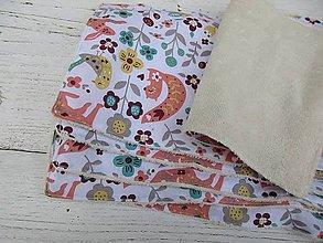 Textil - detské bezodpadové obrúsky-líška - 10719574_
