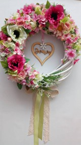 Romantický veniec Náruč kvetín