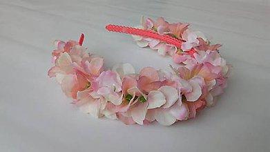 Detské doplnky - Kvetinova celenka - bledoruzova - 10719024_