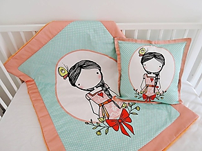 Textil - Sada - dievčatko s vrkočom  (Perinka) - 10718961_