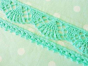 Úžitkový textil - Retro utierka s bodkami a krajkou, mentolová - 10719266_