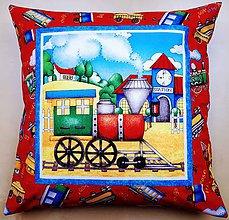 Úžitkový textil - Povlak na vankúš - Vláčik I. - 10719632_