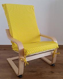 Úžitkový textil - Sedák na detské kreslo Ikea Poang - 10719666_