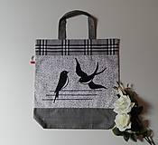 Nákupné tašky - Ekotaška s lastovičkami - 10719163_
