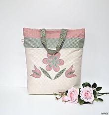 Nákupné tašky - Nákupná taška - kvietky - 10719207_
