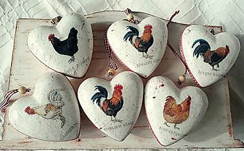 Dekorácie - vidiecke veľkonočné vajíčka - 10719401_