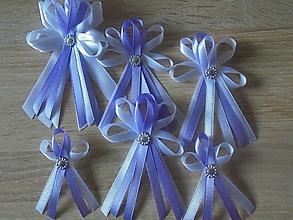 Pierka - Svadobné pierko pre hostí,bielo-fialové - 10718315_