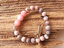 Náramky - Náramok jaspis ružová zebra a jadeit - 10720686_