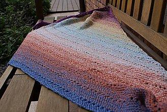 Šatky - Veľká pletená šatka - 10721792_