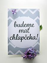Míľnikové kartičky - tehotenské (bežové) UNI