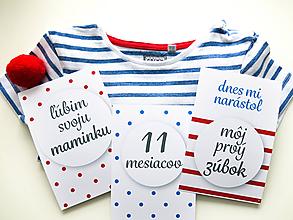Detské doplnky - Míľnikové kartičky - námorníčka D - 10721667_