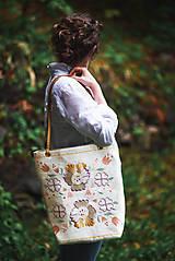 Veľké tašky - Veľká ľanová taška Poľana - 10723172_
