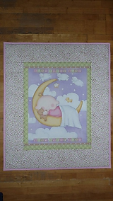 Textil - Detská deka MESIAČIK S BÁBäTKOM - 10722760_