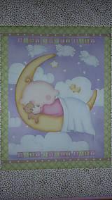 Textil - Detská deka MESIAČIK S BÁBäTKOM - 10722761_