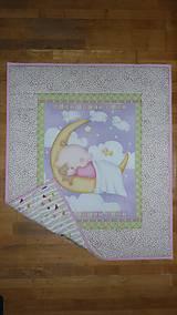 Textil - Detská deka MESIAČIK S BÁBäTKOM - 10722762_