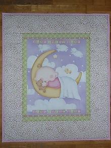 Textil - Detská deka MESIAČIK S BÁBäTKOM - 10723019_
