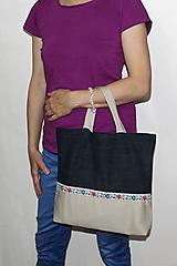Nákupné tašky - taška folk s pevnými ušami - 10720953_