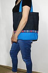 Nákupné tašky - taška na plece folk s pevnými ušami - 10721728_