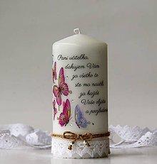 Svietidlá a sviečky - Dekoračná sviečka pre pani učiteľky - 10722092_
