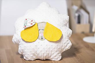 Detské doplnky - Detský vankúš ovka - žltá - 10722134_